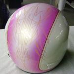 Striped up helmet
