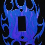 Blue Metallic with Purple Flame