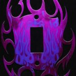 Candy Metallic Magenta with Purple Flame